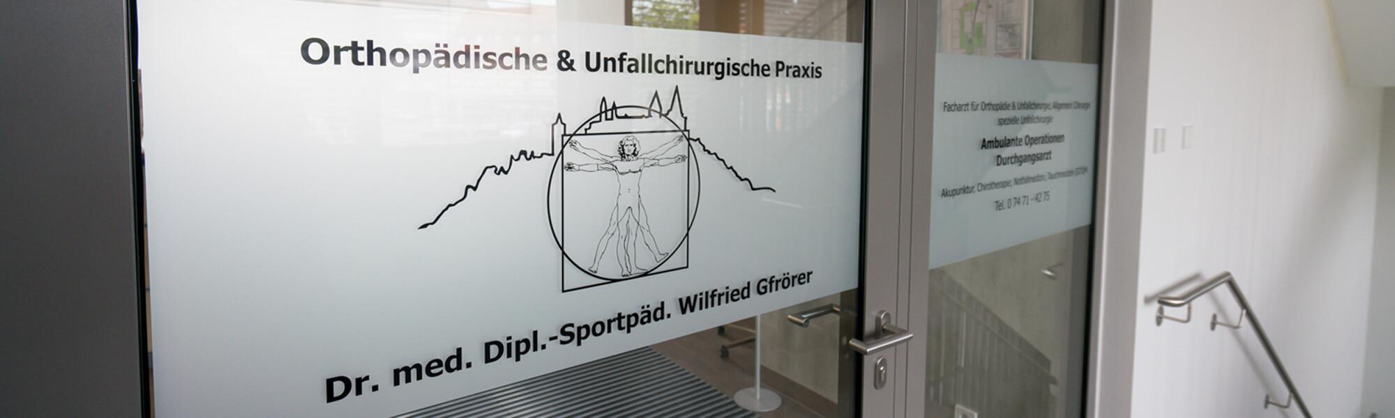 Unfallchirurg & Orthopäde Hechingen - Gfrörer - Arbeitsunfälle - Slider